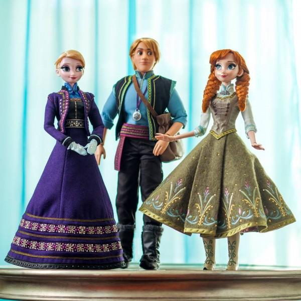 Poupée Elsa Anna Kristoffde La Reine des Neiges en édition limitée
