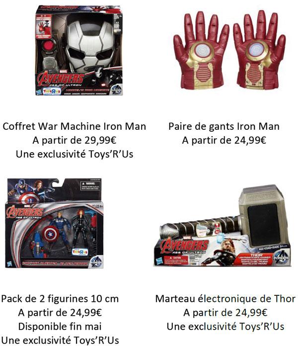 """Avengers, l'Ere d'Ultron"""" fait son show chez Toys'R'Us"""