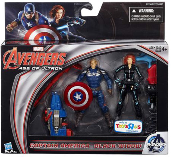Exclu Avengers Age Of ultron / Ere d'Ultron exclu Toy s R Us acptain America Black widows