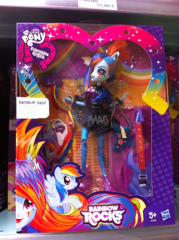 My Little Pony Equestria Girl Rainbow Dash collection Raindow Color