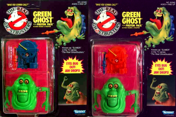 Slimer proton pack versions américaines