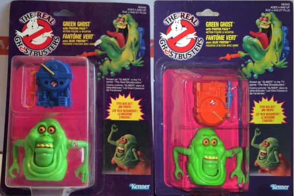 Slimer proton pack versions canadiennes