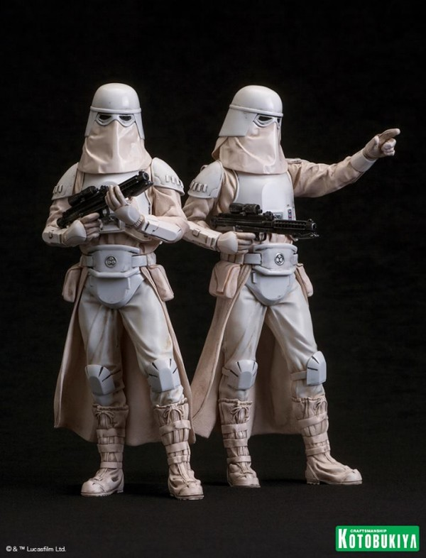 Star Wars Snowtrooper 2 Pack ARTFX+ Statues.