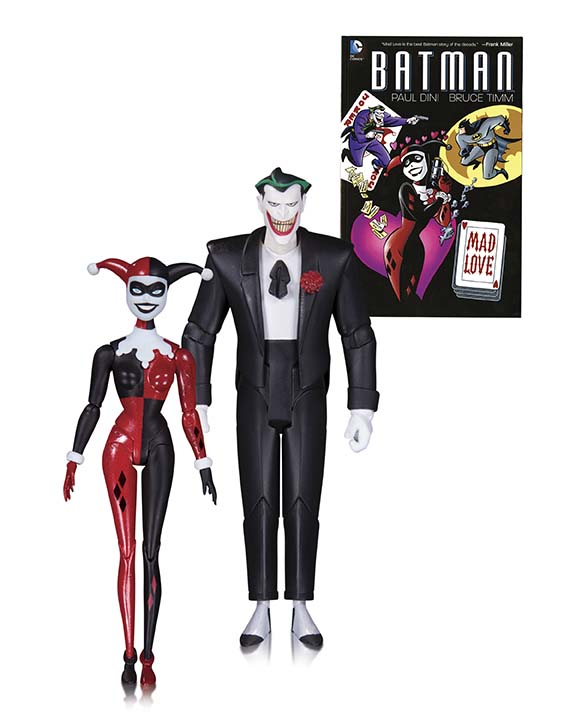 BATMAN ANIMATED SERIES: THE JOKER AND HARLEY QUINN MAD LOVE BOOK AND ACTION FIGURE 2-PACK