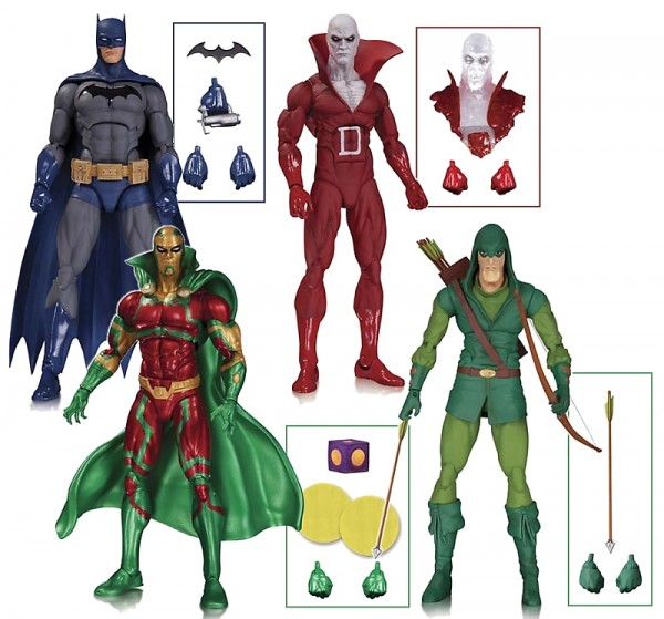 DC COMICS ICONS: BATMAN, DEADMAN, GREEN ARROW AND MISTER MIRACLE ACTION FIGURES