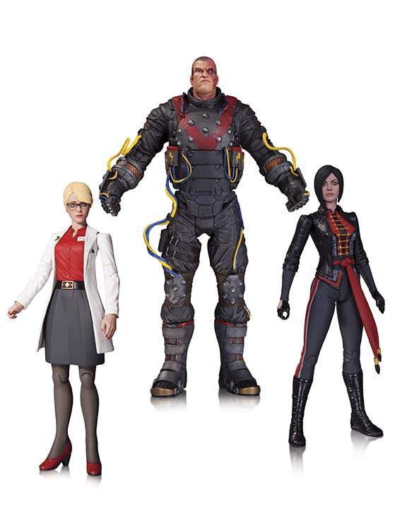 THE ELECTROCUTIONER, DR. HARLEEN QUINZEL AND LADY SHIVA ACTION FIGURE 3-PACK