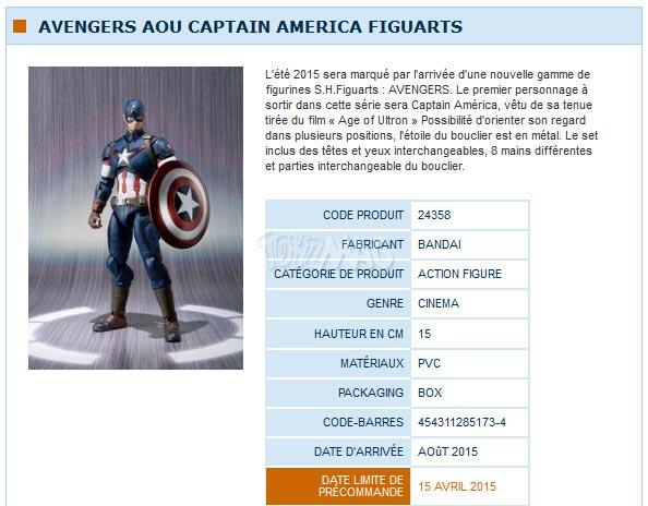 S.H.Figuart Avengers Age of Ultron / Ere d'Ultron  captain america