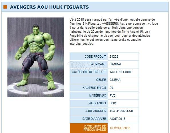 S.H.Figuart Avengers Age of Ultron / Ere d'Ultron  hulk