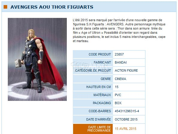 S.H.Figuart Avengers Age of Ultron / Ere d'Ultron  THOR