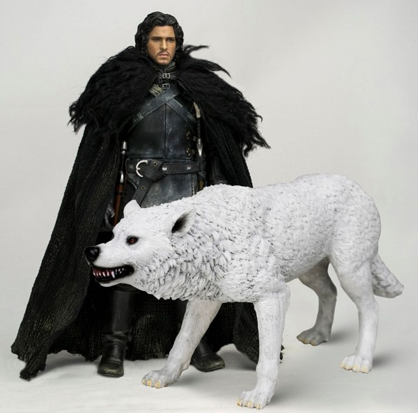 game of thrones jon snow ghost threezero
