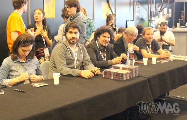 Les acteurs de Herocorps en dédicaces à Geekopolis 2014