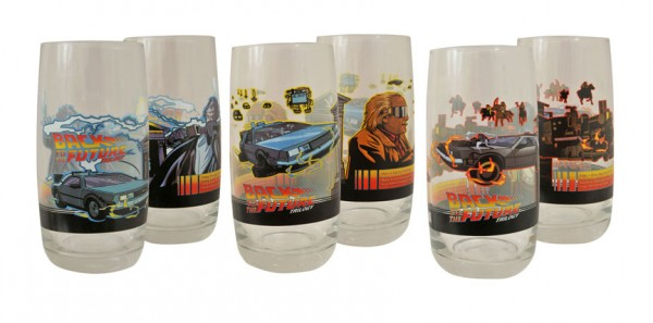 Back to the Future Trilogy Glass Tumblers