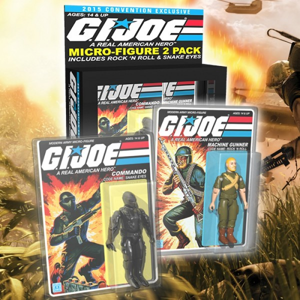 SNAKE EYES et ROCK N' ROLL G.I.JOE Micro Figure 2-Pack - SDCC 2015 Exclusive