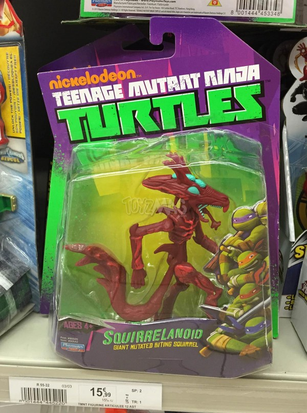 Squirrelanoid Tortues Ninja Playmates Toys