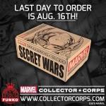 Marvel Collector Corps, prochaine Box Secret Wars