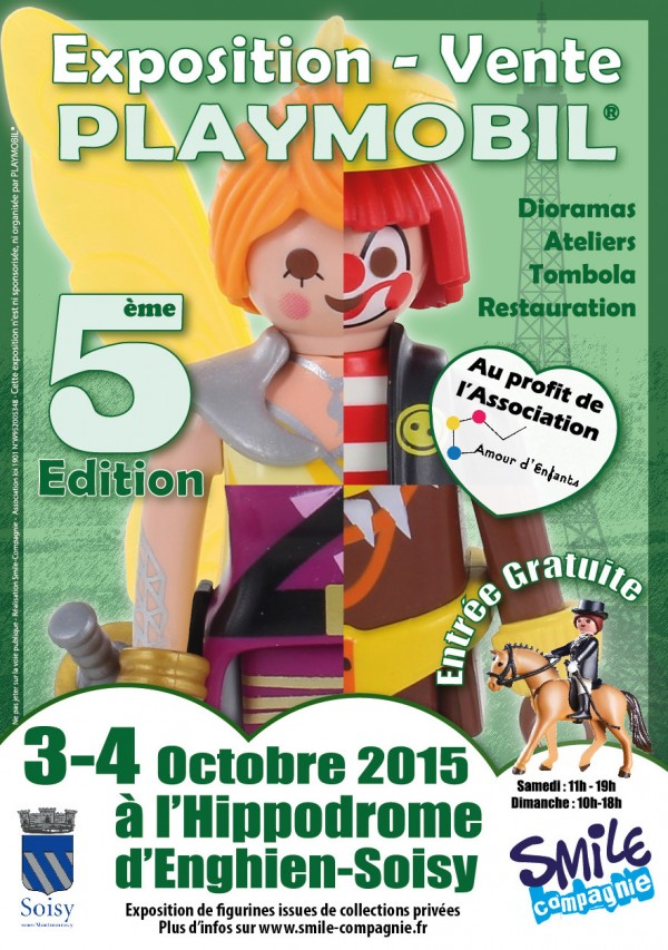 Flyer A6 Exposition playmobil Soisy 2015 V2 - Recto
