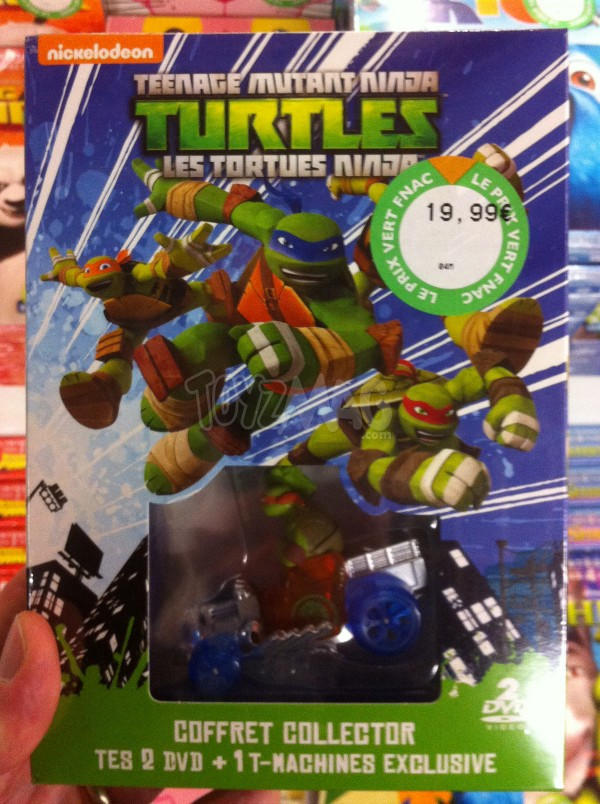 Tortues Ninja le DVD et une T-Machine