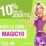 Bon plan : -10% sur les jouets sur Carrefour Online