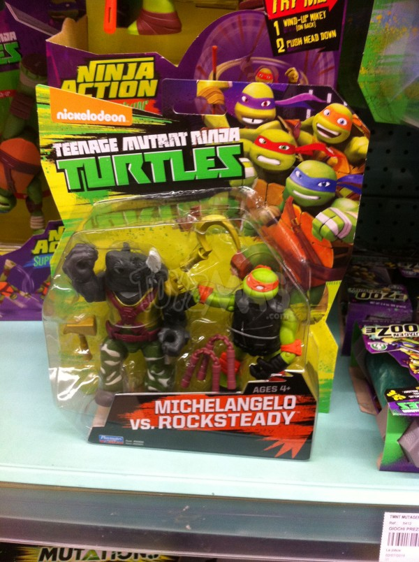 La Grande Récré du double pack exclu Michelangelo VS Rocksteady TMNT