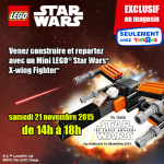 Toys R Us offre le Mini LEGO Star Wars X-wing Fighter TFA