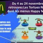 Les Tortues Ninja dans les menu McDo