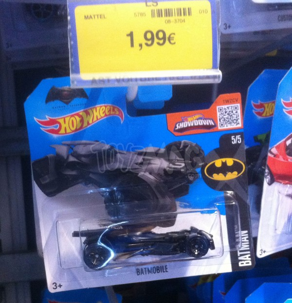 hotwheels batmobile Batman v Superman