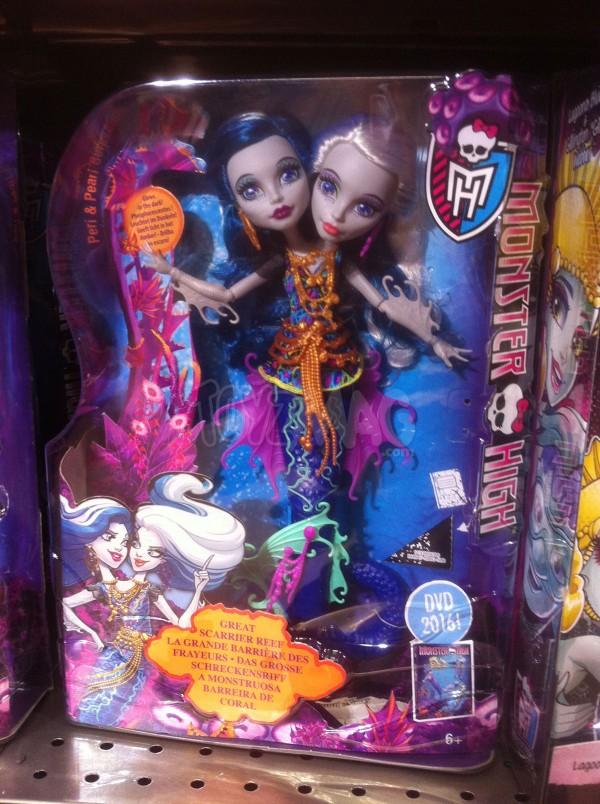 Monster High La Grande Barrière des frayeurs avec la poupée Peri & Pearl Serpentine
