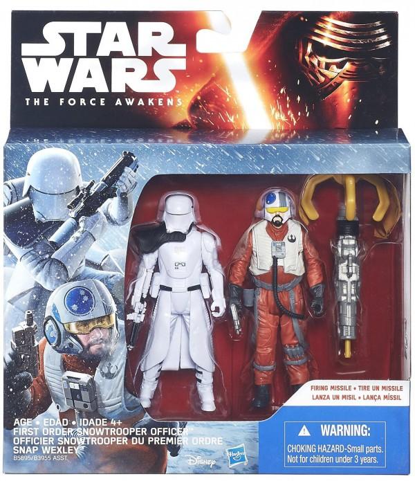 Officier Snowtrooper du premier Ordre + Snap Wexley (X-wing Pilot)  star wars figurine jouet réveil de la force