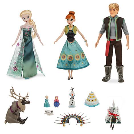 Ensemble de poupées de luxe La Reine des Neiges : une Fête Givrée Prix :  42,90€