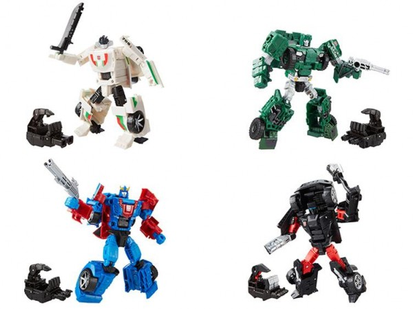 Deluxe Class: Wheeljack, Autobot Hound, Smokescreen, Trailbreaker