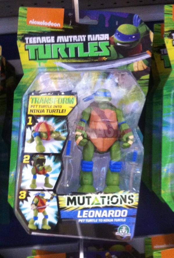 4 figurines des Mutation Transform Tortues