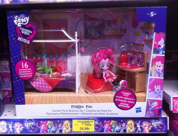 My Little Pony Equestria Girls avec la chambre de Pinkie Pie.