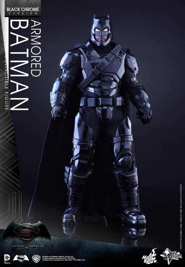 Batman v Superman : Batman Black Chrome par Hot Toys
