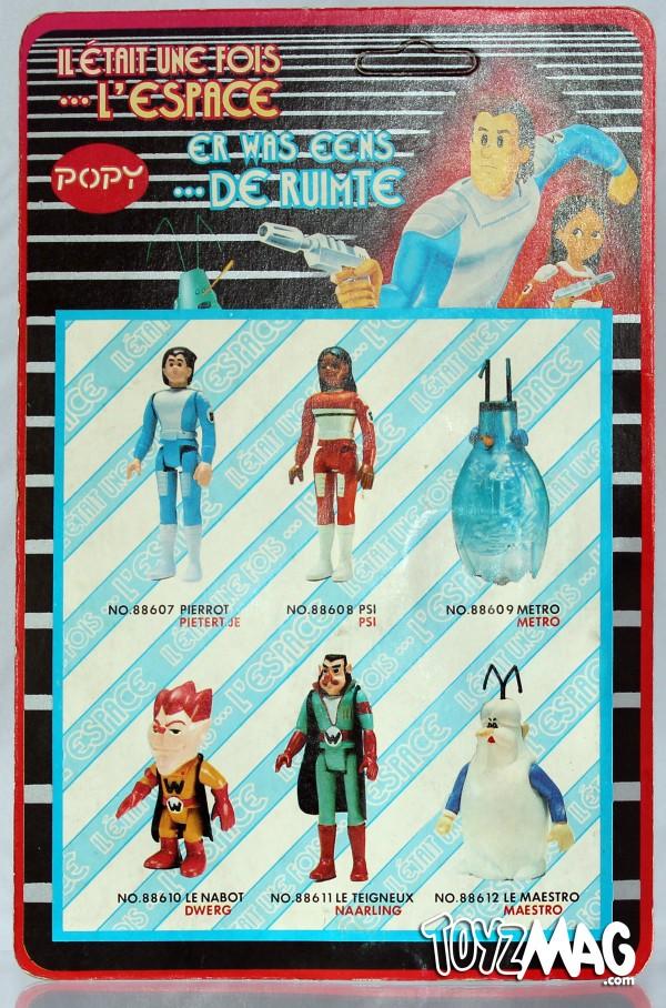 CARTE VERSO blister figurines 10cm PVC en blister POPY Il était une fois...l'espace