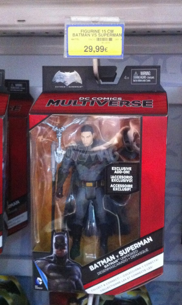 Batman v Superman DC Comics Multiverse BATMAN sans masque MATTEL
