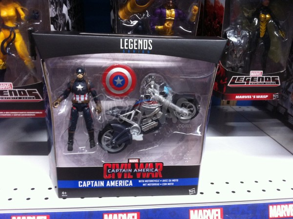 "Captain America Civil War HASBRO MARVEL LEGENDS 10CM 3""3/4 CAPT et moto BIKE"
