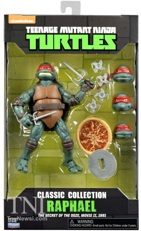 Raphael Figurines Tortues Nijna  Teenage Mutant Ninja Turtles Classics Secret Of The Ooze Walmart Exclu