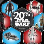 Bon Plan : 20% de reduction sur les jouets Star Wars