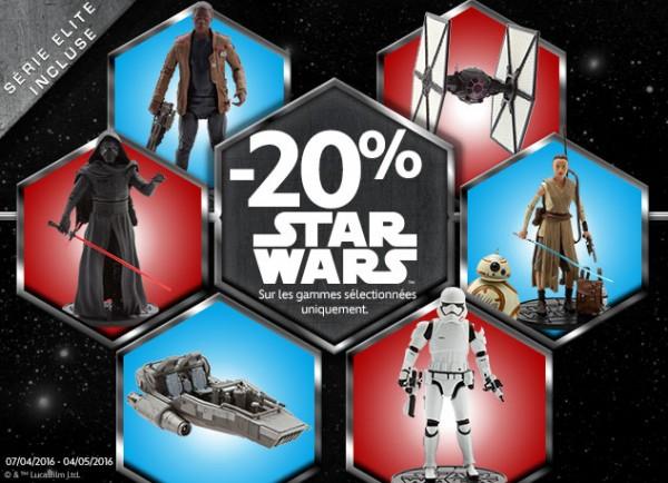 promo -20% sur jouets star wars