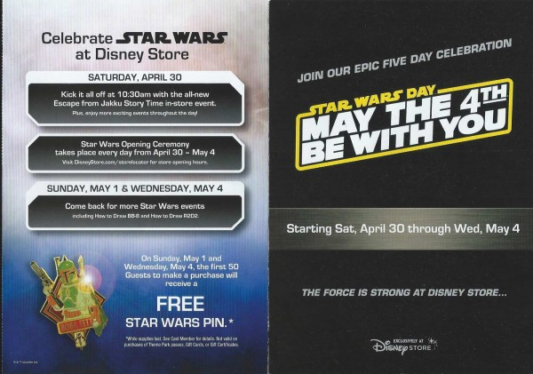 Disney Store Star wars  day may the 4 Disnsy store
