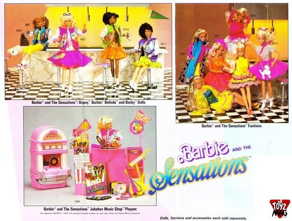 Dépliant Barbie 1988