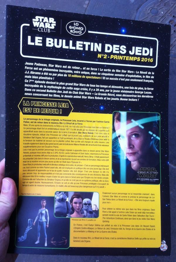 La Grande Récré 2eme Bulletin des Jedi du Star Wars Club !