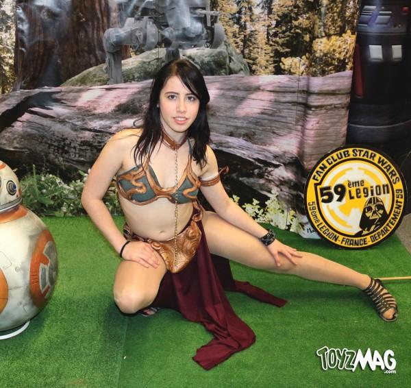 cosplay de Leia Slave (Retour du Jedi) PARIS COMICS EXPO 2016