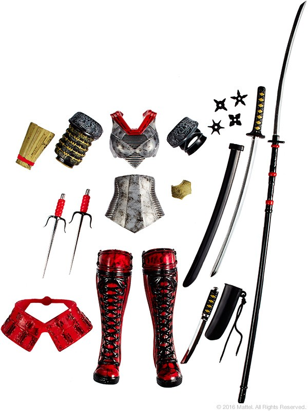 sdcc201 DC SUPER HERO GIRLS KATANA exclu SDCC 2016 MATTEL