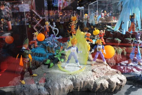 JapanExpo2016 : vitrine Dragon Ball – Stand Tamashii Nations