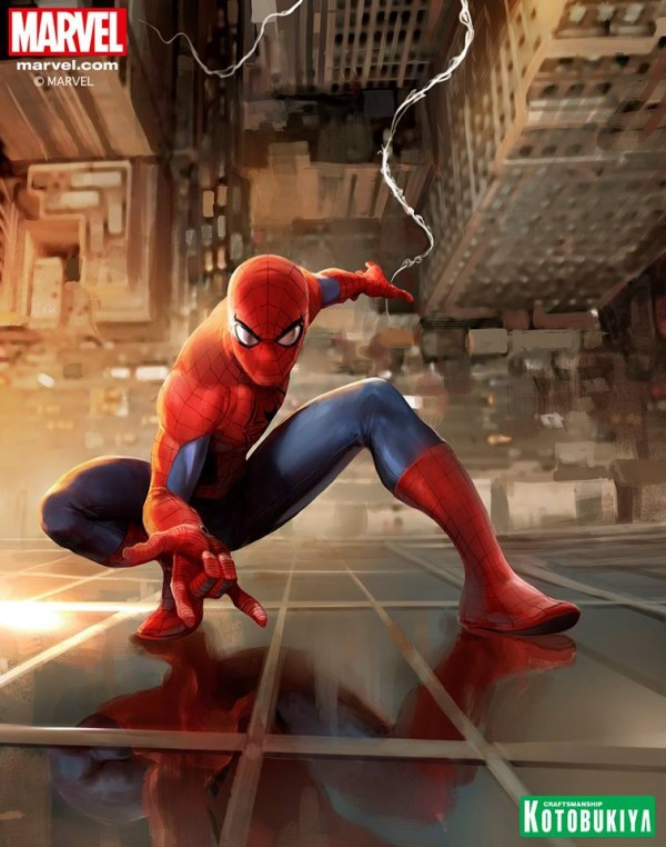 The Amazing Spider-Man artwork created by Stefano Caselli exclusively for our Marvel ARTFX+ collection!