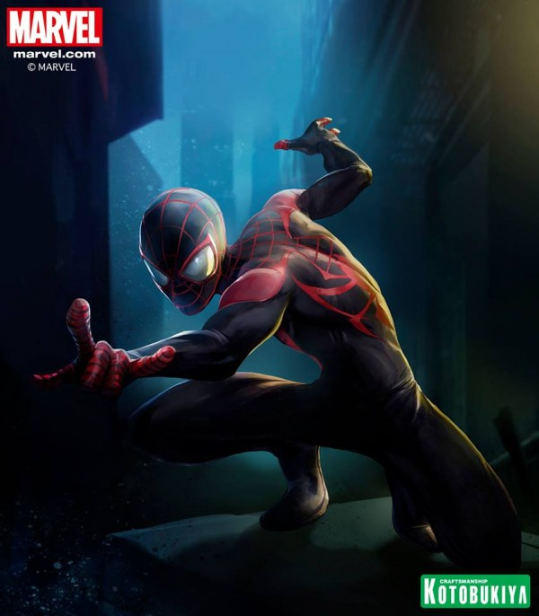 Stefano Caselli  artwork exclusif Ultimate Spider-Man ARTFX+ collection Kotobukiya