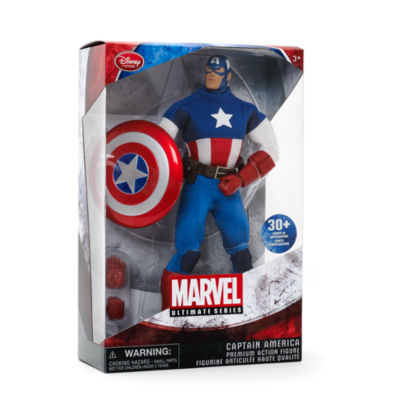 Figurine articulée Premium Captain America, Série Marvel Ultimate