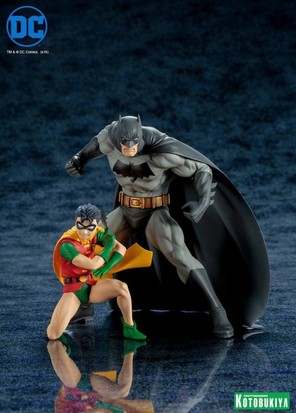 Batman & Robin Two-Pack ARTFX+ Statues.