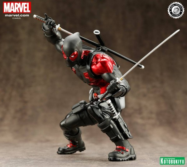 Marvel Comics Deadpool Black Suit Limited Edition ARTFX+ Statue